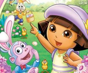 Układanka Dora Eksploratora w Wielkanoc