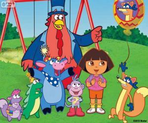 Układanka Dora z przyjaciółmi