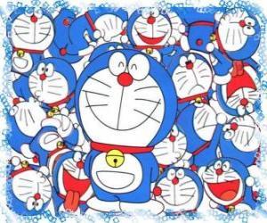 Układanka Doraemon jest kosmiczną kot, który przychodzi z przyszłości