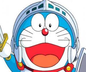 Układanka Doraemon w jednym z jego przygodach