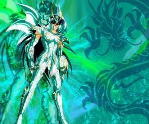 Układanka Dragon Shiryu, jednego z pięciu bohaterów Rycerze Zodiaku. Knight brąz konstelacji Smoka