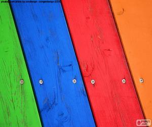 Układanka Drewna w różnych kolorach