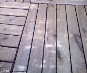 Układanka Drewniane podłogi na zewnątrz