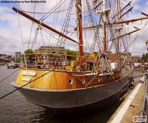 Układanka Drewniany jacht