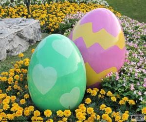 Układanka Duże jaja wielkanocne