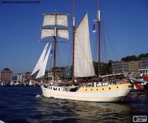 Układanka Duży jacht
