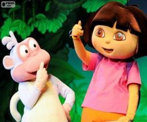 Układanka Dwóch przyjaciół Wielkie, Dora i Buty