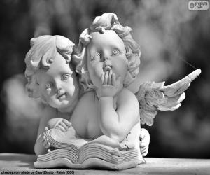 Układanka Dwa anioły miłości