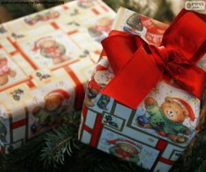 Układanka Dwa prezenty świąteczne