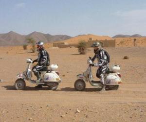 Układanka Dwa przygód na motocyklu