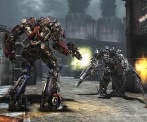 Układanka Dwa roboty Transformers