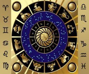 Układanka Dwanaście znaków zodiaku, Koło Zodiaku