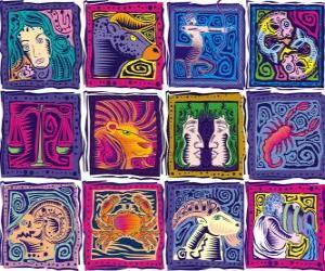 Układanka Dwanaście znaków zodiaku