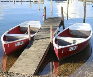 Układanka Dwie łodzie wiosłowe