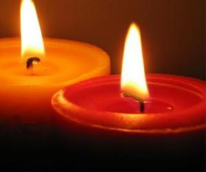 Układanka Dwie świece
