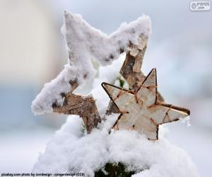 Układanka Dwie gwiazdki śniegu
