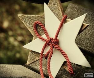 Układanka Dwie gwiazdy drewna