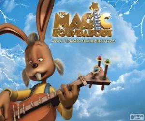 Układanka Dylan, królik, który gra na gitarze