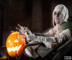 Układanka Dynia i mumia, Halloween
