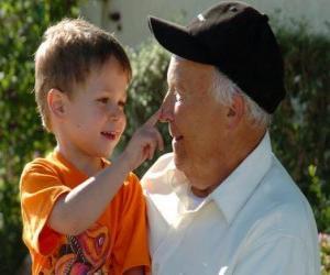 Układanka Dziadek z wnukiem