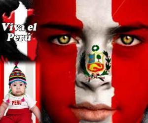 Układanka Dzień Niepodległości Peru, 28 lipca. Upamiętnia on Deklaracji Niepodległości z Hiszpanii w 1821 roku
