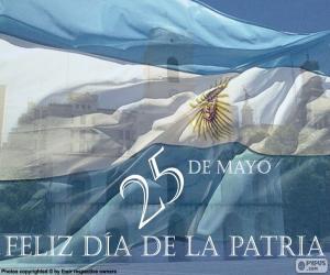 Układanka Dzień ojczyzny Argentyny