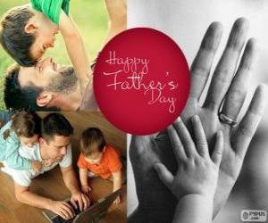 Układanka Dzień szczęśliwy ojciec