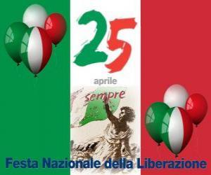Układanka Dzień Wyzwolenia, włoski święto narodowe obchodzone 25 kwietnia