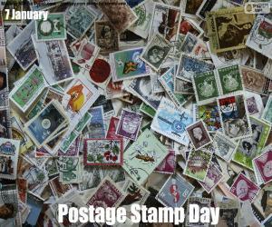 Układanka Dzień znaczka pocztowego