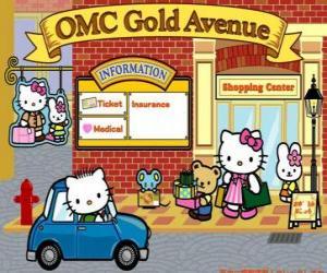 Układanka Dzień Zakupy z Hello Kitty i przyjaciele