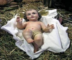 Układanka Dzieciątka Jezus w żłobie