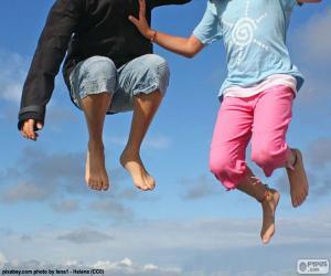 Układanka Dzieci, skoki