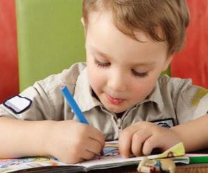 Układanka Dziecko malowania
