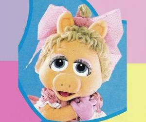 Układanka Dziecko Piggy, Muppet Dziecko Miss Piggy