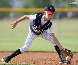 Układanka Dziecko w baseball