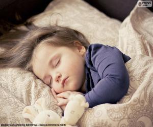 Układanka Dziewczyna śpi