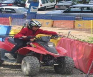 Układanka Dziewczyna jazdy quad