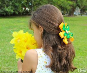 Układanka Dziewczyna z kwiatami