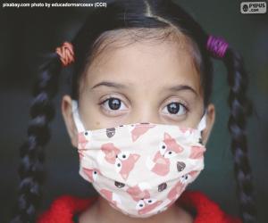 Układanka Dziewczyna z maską