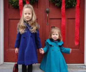 Układanka Dziewczyny bardzo stylowe na święta