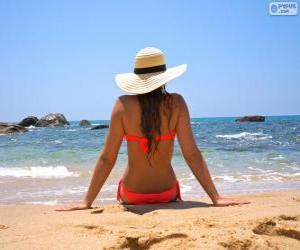 Układanka Dziewczyny na plaży
