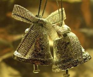 Układanka Dzwonki świąteczne z taśmy