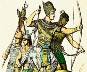 Układanka Egipski żołnierz z kokardą
