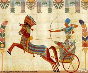 Układanka Egipski wojownik i rydwan