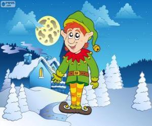 Układanka Elf Świętego Mikołaja