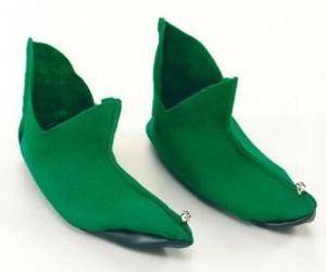 Układanka Elf Narodzenia buty