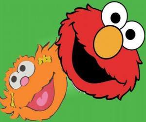 Układanka Elmo i Zoe