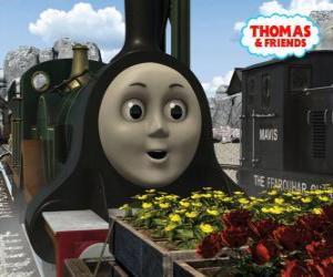 Układanka Emily, szmaragd lokomotywy zielony jest najnowszym członkiem zespołu parowozów