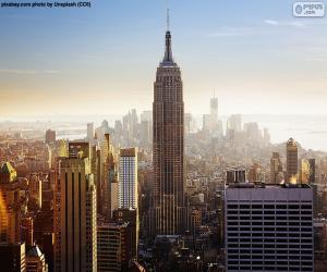 Układanka Empire State Building w Nowym Jorku