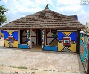 Układanka Etniczne dom, Południowa Afryka